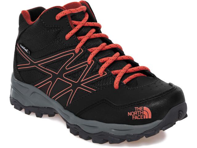 The North Face Hedgehog Hiker Mid WP Zapatillas Niños, TNF black/mandarin red